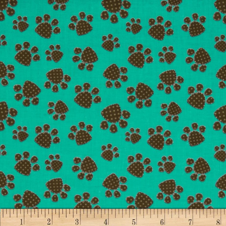 Naughty Puppies Puppy Paw Prints Turquoise