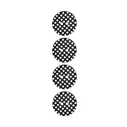 "Riley Blake Sew Together 1"" Gingham Button Black"