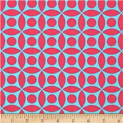Michael Miller Technicolor Tile Luna Pink/Blue