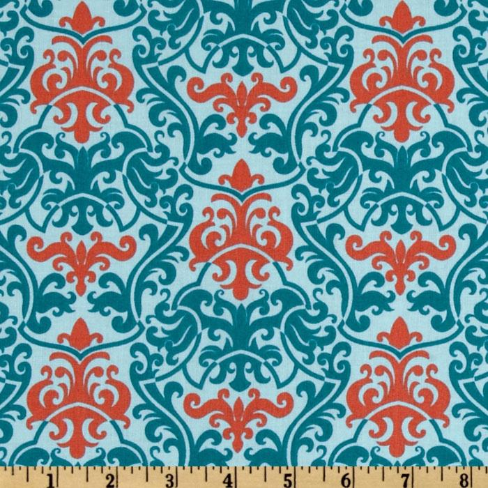 Vintage Vogue Large Damask Blue