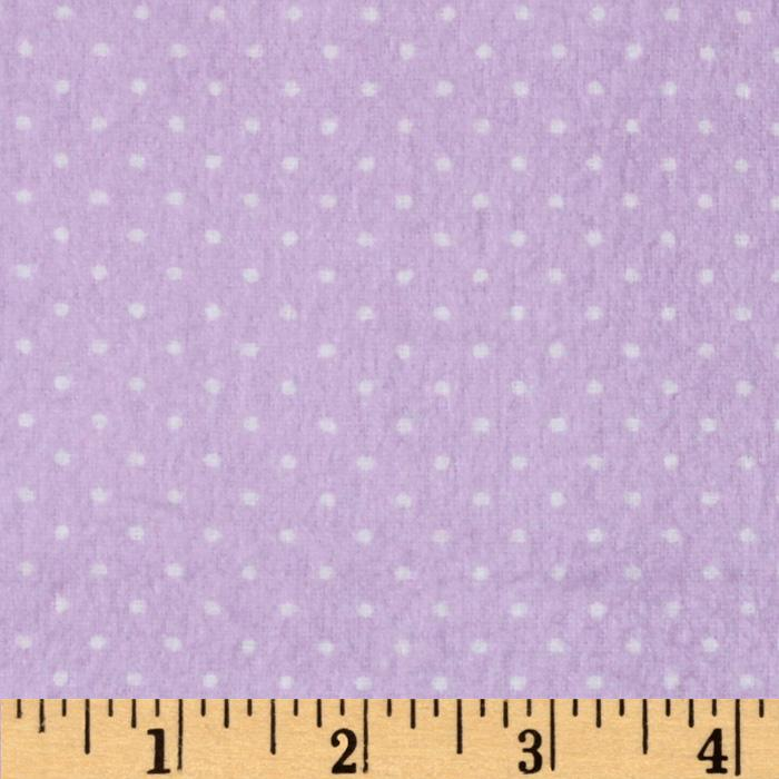 Flannel Basic Pindot Lavender