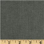 0271863 Primo Plaids Flannel Yarn Dyed Herringbone Small Grey