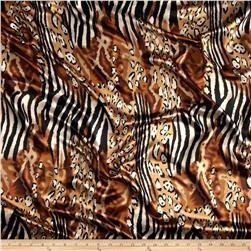 Satin Charmeuse Safari Cat Brown