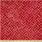Artisan Batiks: Elementals Geos 4 Crosshatch Red