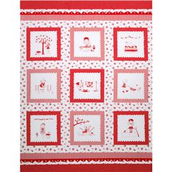 Riley Blake The Simple Life Simple Panel Red