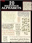 LAR-079 Leisure Arts 20 Backstitch Alphabets Mini Series #2 Booklet