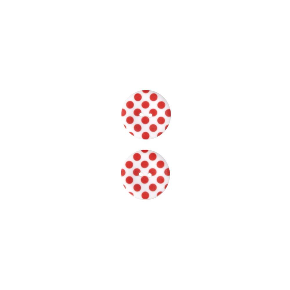 Riley Blake Sew Together 1 1/2 Matte Button Dots Red