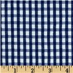 Seersucker Small Check Navy