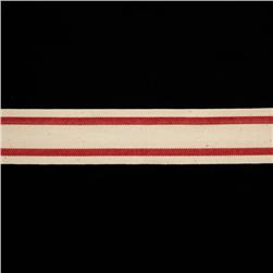 "1 1/2"" Woven Ribbon Stripes Red"