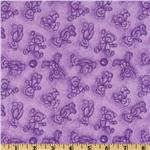 Boyds Bears Flannel Bear Toile Lilac