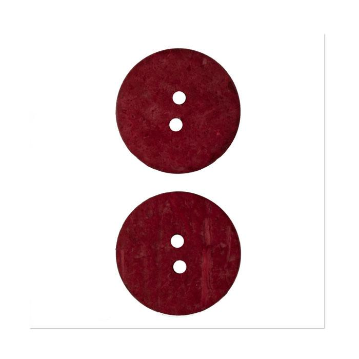 Organic Elements Coconut Button 1&#39;&#39; Red