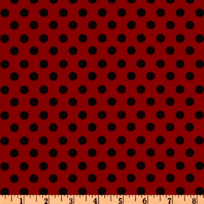 Crazy for Dots & Stripes Polka Dot Red/Black
