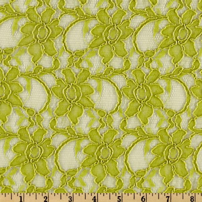 Xanna Floral Lace Fabric Lime