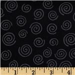 DH-475 110' Wide Quilt Backing Swirls Black/Grey