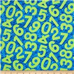 Happy Birthday Tossed Numbers Blue