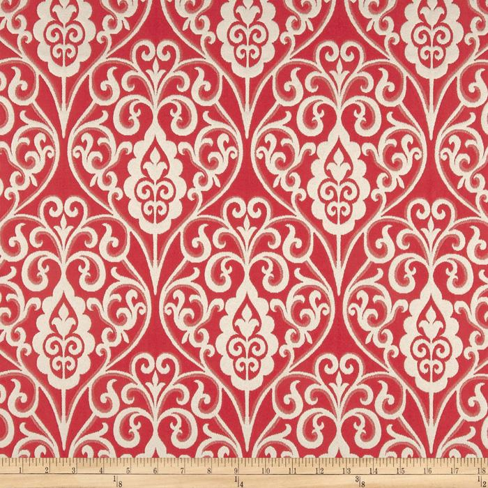 Waverly Williamsburg Bristol Scroll Jacquard Berry