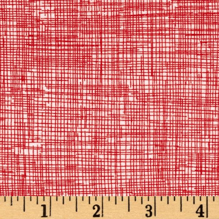 Timeless Treasures Sketch Flannel Cherry