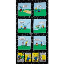 Timeless Treasures Pickles Golf Panel Black