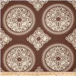 0281873 Ty Pennington Home Decor Impressions Medallion Brown