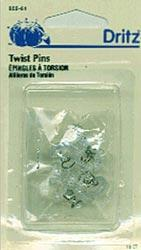 "Twist Pins 1/2"" Size 16 - Package of 10."