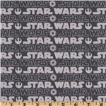 Star Wars Words Grey