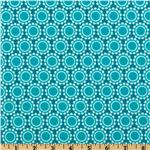 FM-602 Madeline Flannel Daisy Nature Teal