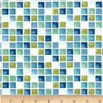 Moda Seascapes Sea Glass Mosaic Caribbean Blue/Green