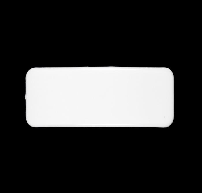Barrette Cover Plastic Rectangle 3-5/8&#39;&#39; x 1-3/8&#39;&#39;