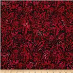 Bali Batiks Leaf Scroll Volcano