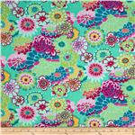 Kaffe Fassett Rayon Challis Asian Circles Green