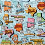 FT-636 Get Your Kicks Route 66 Map Teal