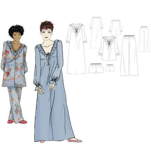 Hot Patterns Boudoir Of Bliss Gloriana Nightgown &amp; Pyjamas
