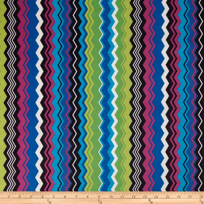 Regal Carson Chevron Stripe Microfiber Royal
