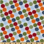 ER-053 Minky Cuddle Retro Dot White/Orange
