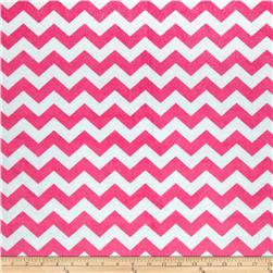 Riley Blake Dreamy Minky Medium Chevron Hot Pink