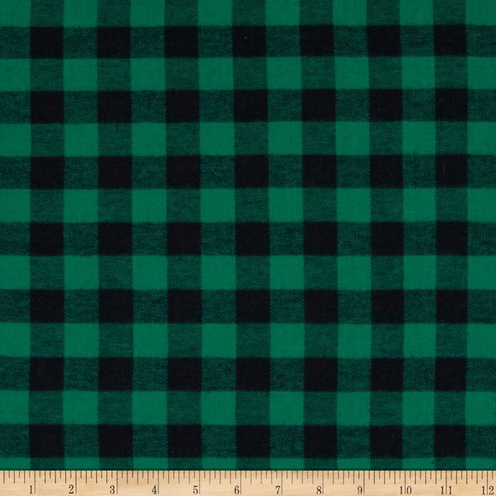 Yarn Dyed Flannel Plaid Green/Black