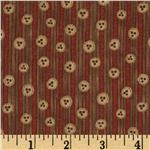 FO-259 Christmastime Button Stripe Red/Khaki