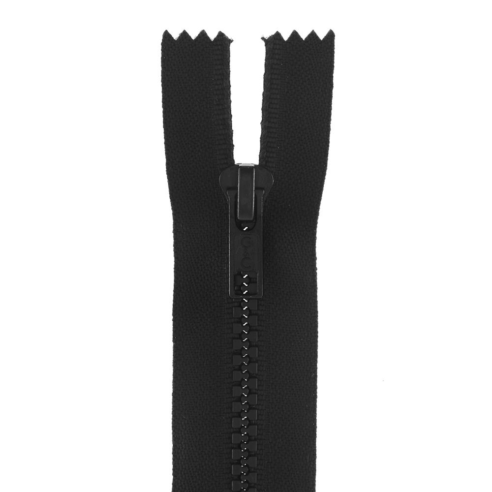 "Coats & Clark Closed Bottom Molded Zipper 7"" Black"