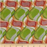0270941 Jonquil Shirting Abstract Swirl Lime/Orange