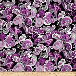 Amethyst Paisley Black/Purple