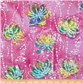 Indian Batik Waterlily Pink