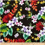 Hoffman Tropical Collection Large Floral Black