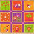 Mystic Forest Flannel Animal Blocks Purple