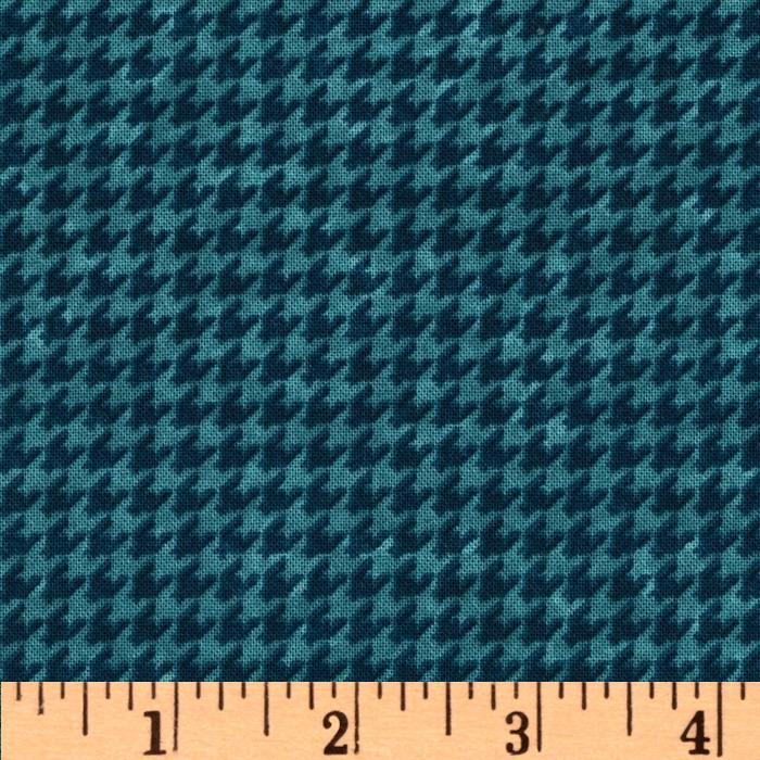 In the Beginning Houndstooth Blue