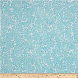 Michael Miller French Journal Posh Paisley Aqua