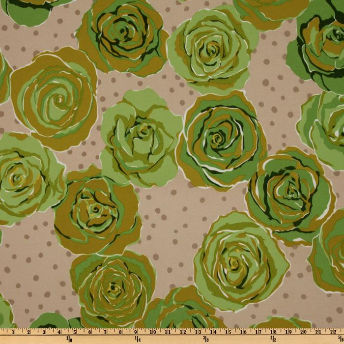 Urban Flannel Roses Green