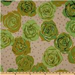 EO-261 Urban Flannel Roses Green