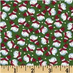 FO-020 Merry Christmas Snowmen Green