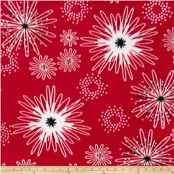 Fleece Fireworks Red