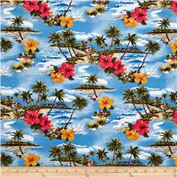 Hoffman Tropical Collection Small Floral Blue